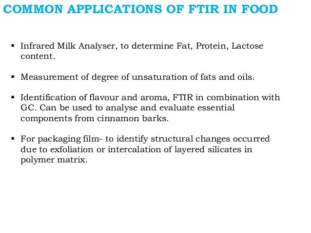 applications of infrared spectroscopy in food industry