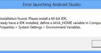 com android application not found