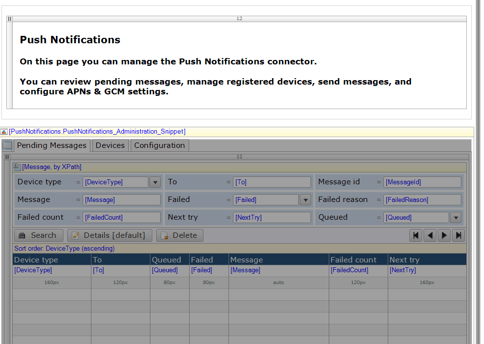 how to implement push notification in java web application