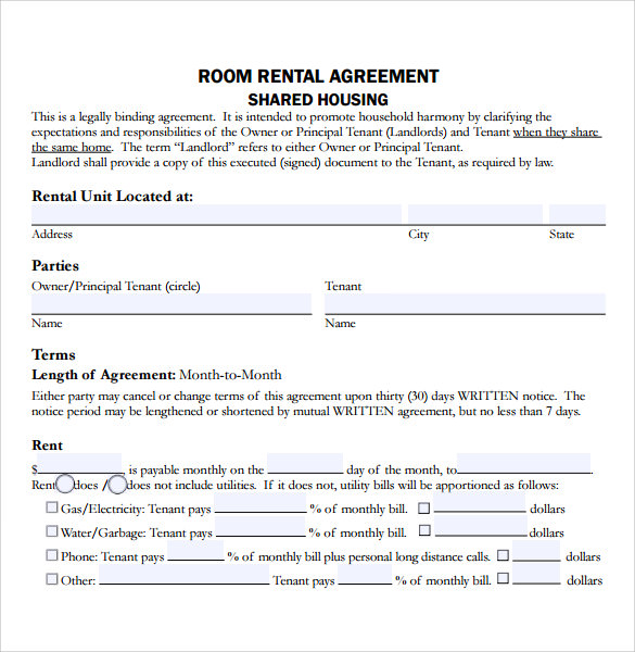 house rental application form word document