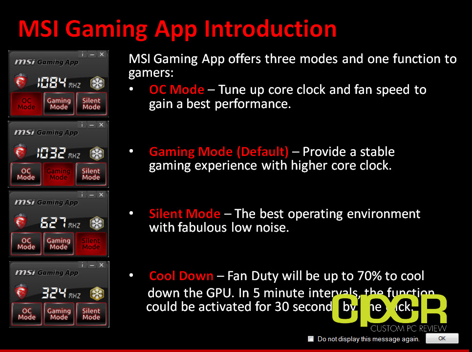 msi gaming app the platform doesn t support this application
