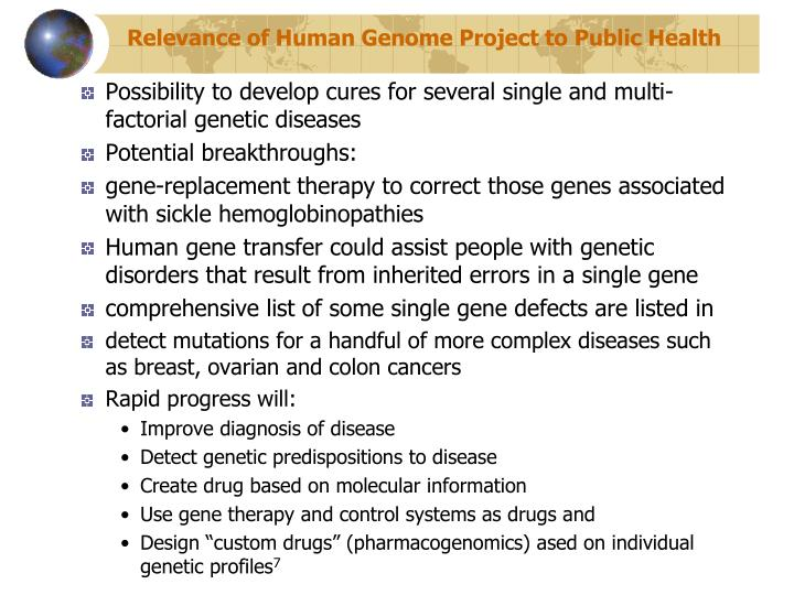 applications of the human genome project pdf