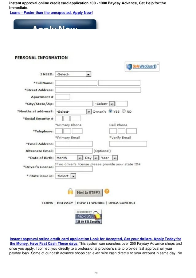 walmart credit card application instant approval