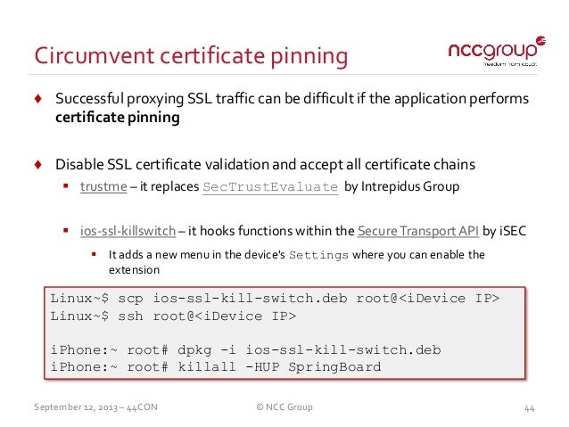 application blocked for security failed to validate certificate