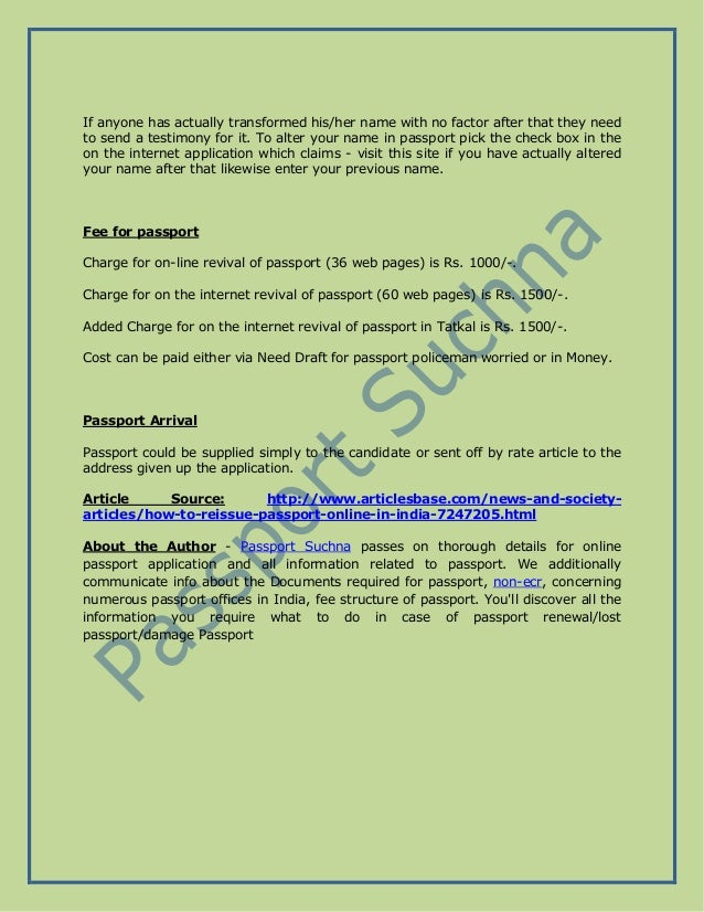 application for reissue of passport in india