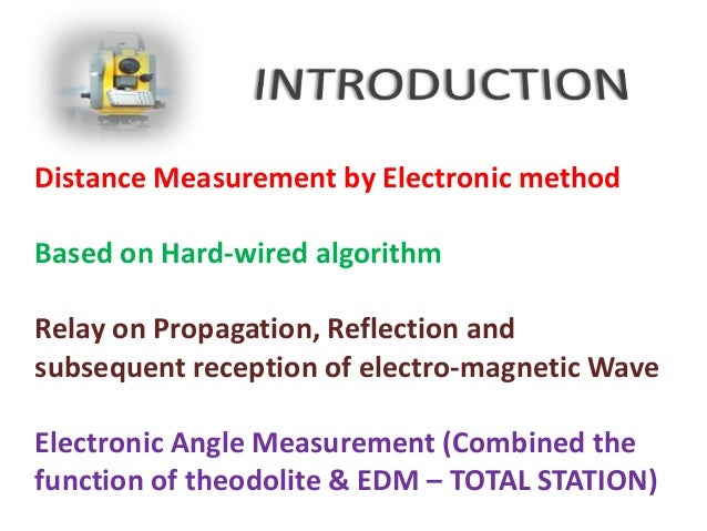 application of edm in surveying