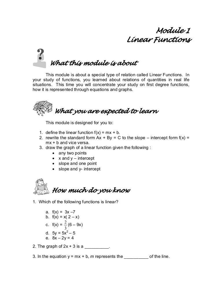applications of linear functions in real life
