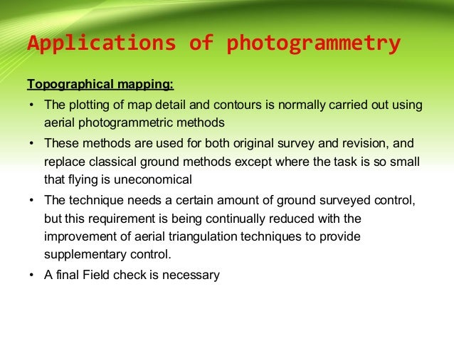application of photogrammetry in surveying