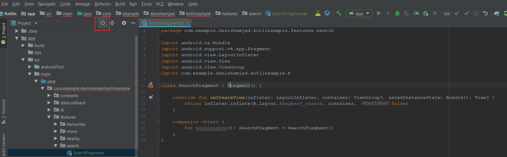 application class in android studio