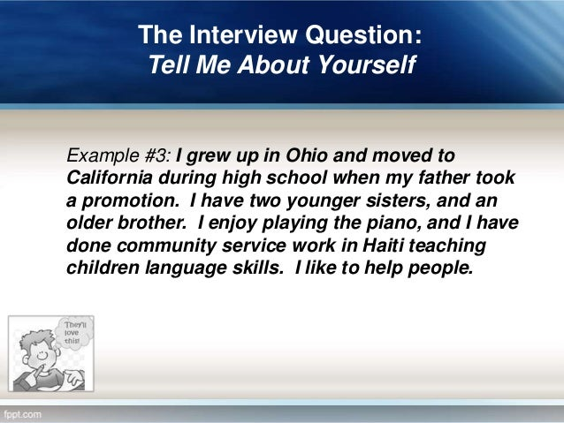 how to talk about yourself in an application