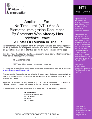 indefinite leave to remain application form