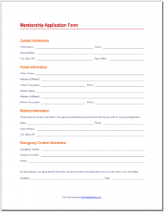 team leader application form example