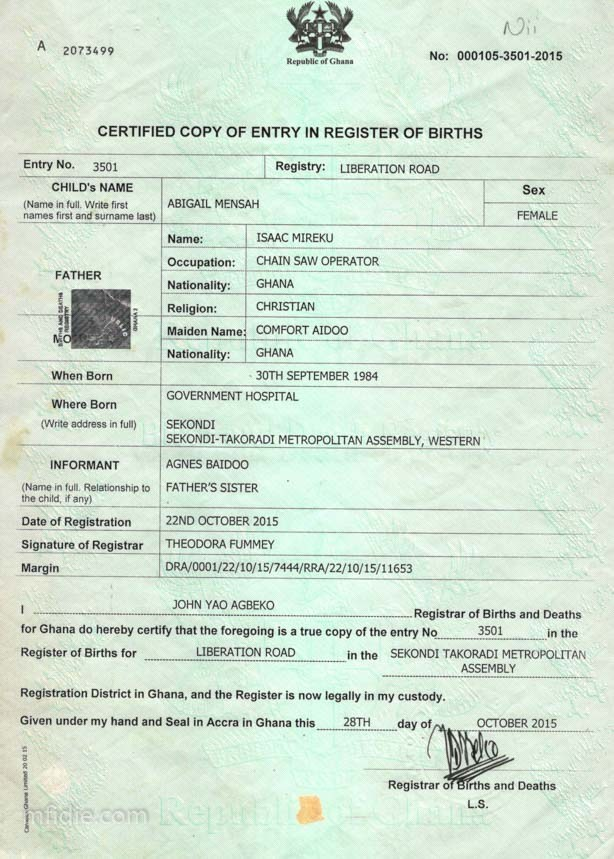 where to send birth certificate application